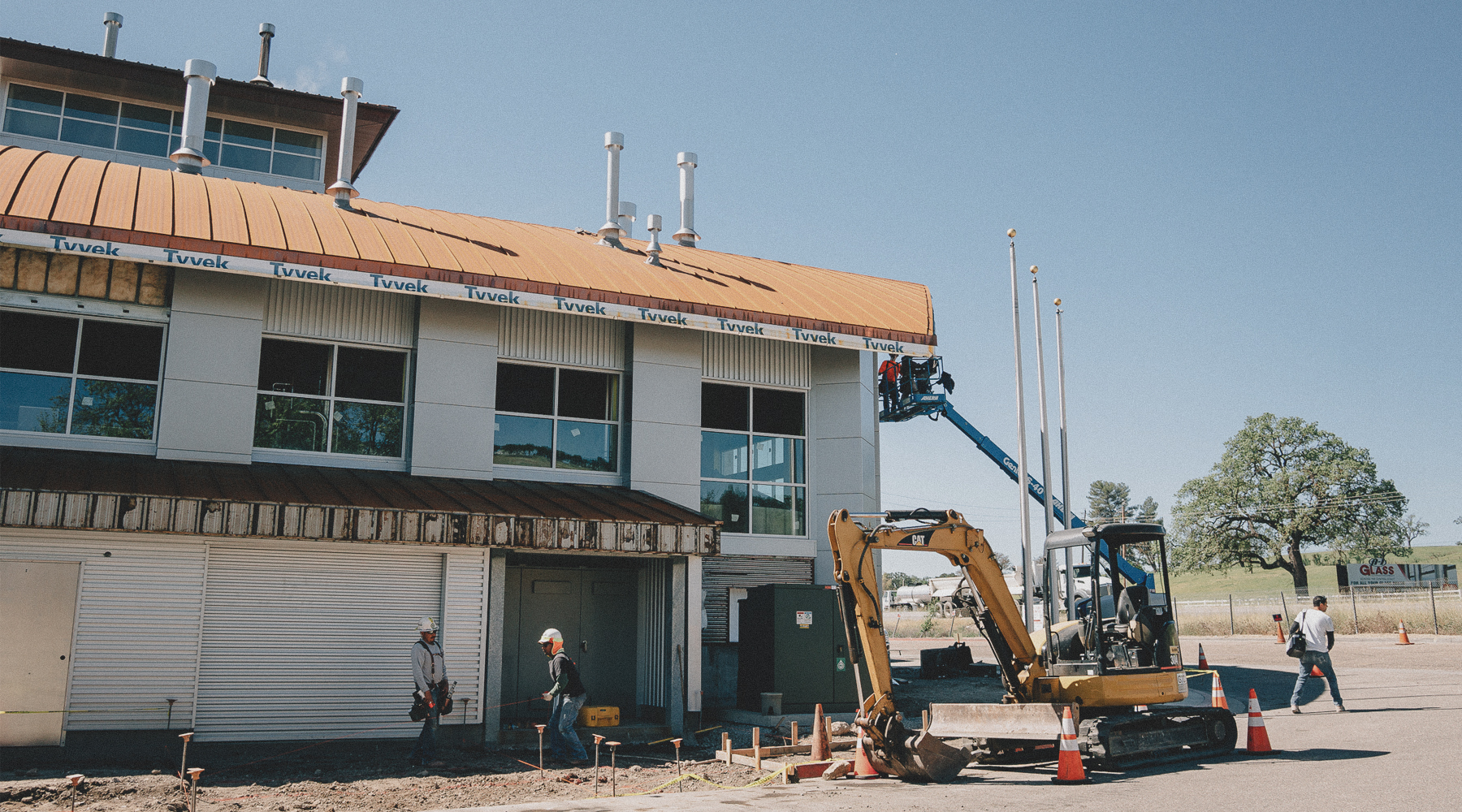 Front of brewing being build